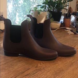 Burgundy Sam Edelman rain boots